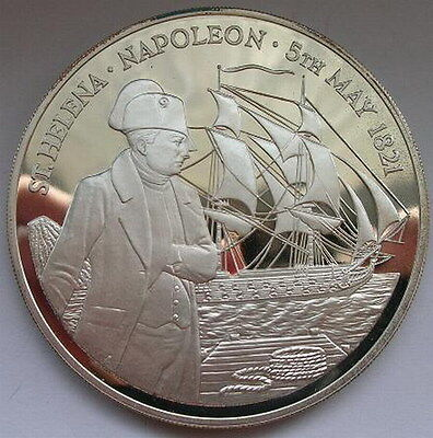 Saint Helena 1986 Napoleon 25 Pounds Silver Coins,Proof