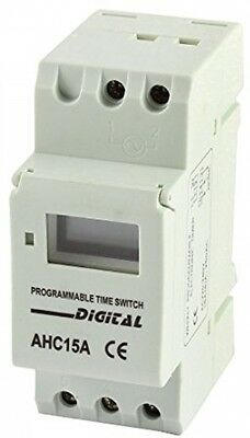 Sourcingmap AHC15A Digital Power Weekly Programmable Time Switch AC 220V