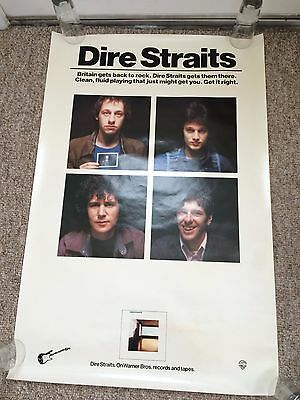 Rare Dire Straits 1978 ? First Studio Album Mark Knopfler LP/Record Promo Poster