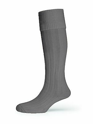 Scottish Men's Deluxe Wool Blend Grey Kilt Hose Socks