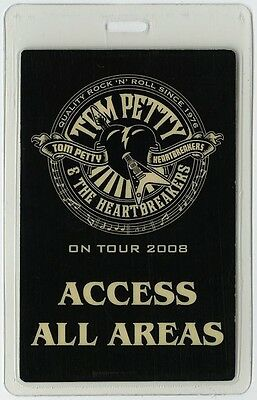Tom Petty authentic 2008 concert tour Laminated Backstage Pass ALL ACCESS