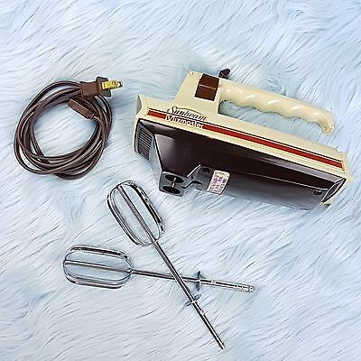 Vtg SUNBEAM MixMaster Retro 3-Speed Electric 2 Beater Hand Held Mixer 1962 Works