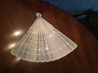 Beautiful white authentic, antique Chinese fan