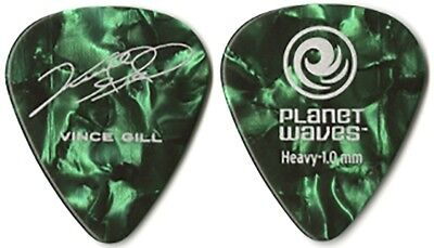 Vince Gill authentic 2011 tour Planet Waves collectible Guitar Pick Amy Grant