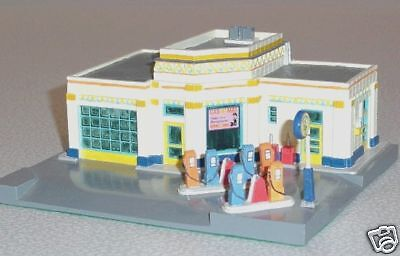 GAS-O-MAT GAS SERVICE STATION Art Deco 1920s Style Lefton Roadside USA 1995 MIB