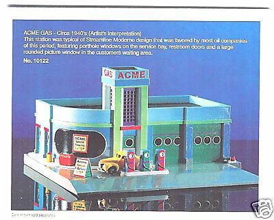 ACME GAS SERVICE STATION Art Deco 40's Style Lefton Roadside HO Scale 1995 MIB