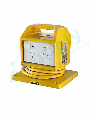 Portable Power Outlet Power Point Socket RCBO Protected Yellow