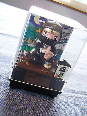 Japanese Nohohon Black Solar Ninja toy fun desk paperweight collectible