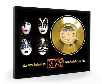 Kiss I Was Made For Lovin' You Framed Gold Disc Display Vinyl (C1)