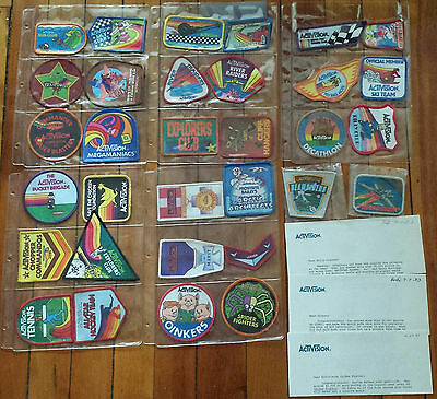 ACTIVISION Atari Colecovision Intellivision Award 32 Patch Lot CLIFF HANGERS +