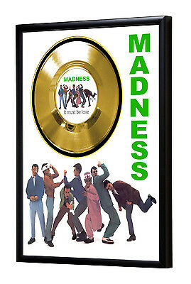 Madness It Must Be Love Framed Gold Disc Record Vinyl (C1)