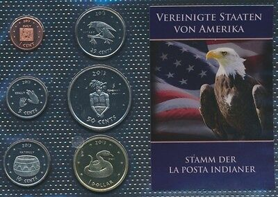 U.S. 2013 UNC coin set 2013 1 cent until 1 US dollars La Posta (9030648