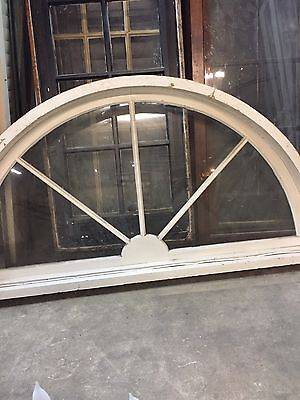 Spiderweb Arched Glass Victorian Window Transom