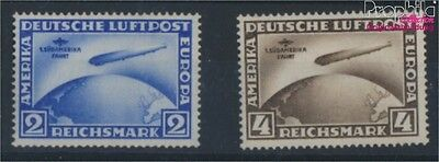 German Empire 438Y-439Y proofed MNH 1930 Airmail Count Zeppelin (8104581