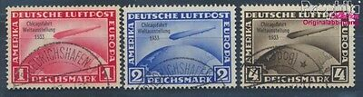 German Empire 496-498 proofed used 1933 Count Zeppelin (8104769