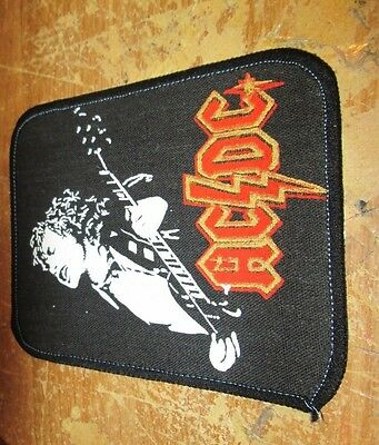 Ac/dc Angus Patch  Collectable Vintage Woven  English Picture