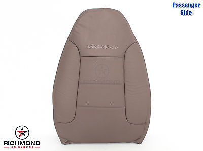 1995 Ford Bronco Eddie Bauer -PASSENGER Side Lean Back Leather Seat Cover Tan