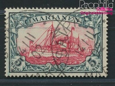 Marianas German Colony 19 proofed used 1901 Imperial Yacht Hohenzollern (8984491