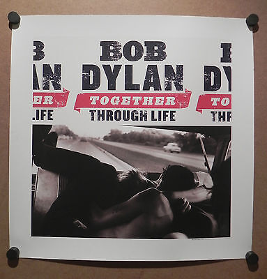 Official Label Bob Dylan Promo Poster Lithograph 'Together Through Life' RARE!