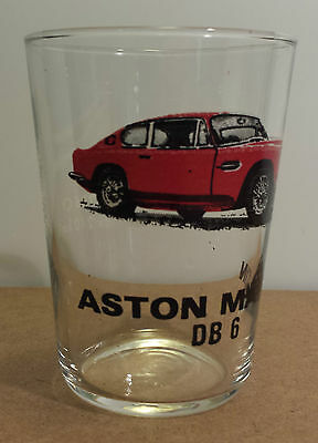 Aston Martin DB 6 Vintage Juice Glass Engine Specs Listed In French Sports Cars