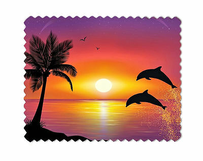 Dolphins Sunset Microfiber Lens Sunglasses  Eye Glasses Cleaning Cloth