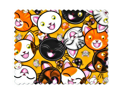 Cats Microfiber Eye Wear Glasses Cleaning Cloth