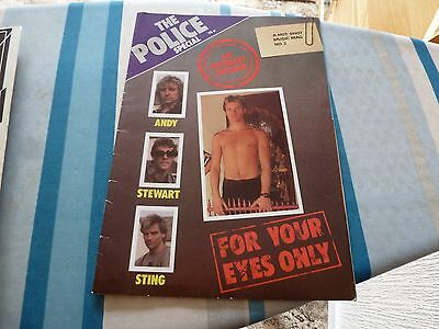THE POLICE Special Hot Shot No2 Hot shot music magazine