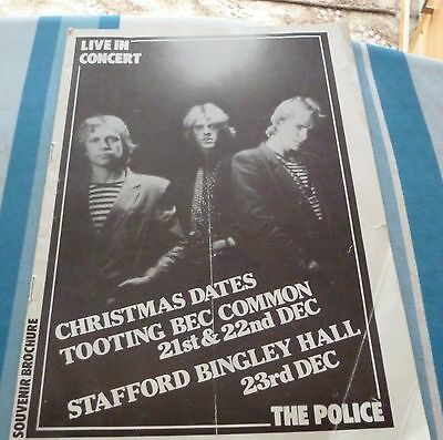 THE POLICE Live in Concert souvenir programme from 1980