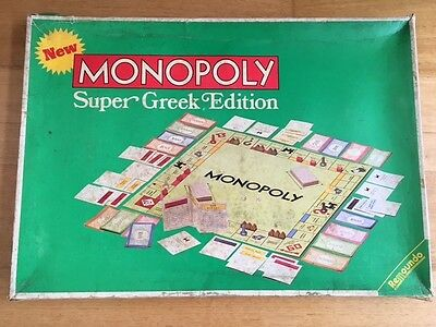 VINTAGE 1970s SUPER GREEK EDITION MONOPOLY BY REMOUNDO