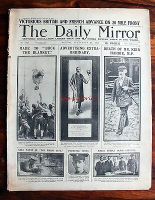 Ww1 Daily Mirror Sep 27 1915  - Death Of Labour Party Founder Keir Hardie