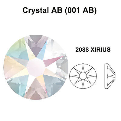 CRYSTAL AB 001 AB Genuine Swarovski 2058 & 2088 Flat Back Rhinestones *All Sizes