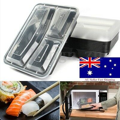 AU 10pcs Microwave Safe PP Meal Prep Container Lunch Box Takeaway Food Storage
