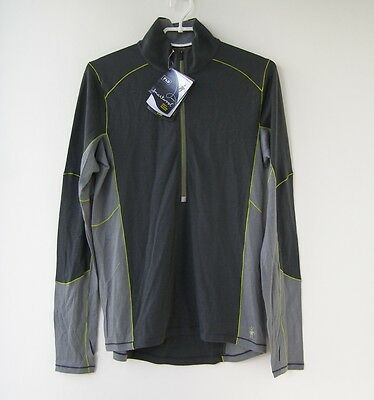 NEW Smartwool 2015 Men's PhD Light Zip T Grapfite Base Layer Top Jersey size M