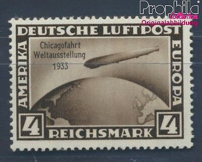 German Empire 498 proofed MNH 1933 Count Zeppelin (8291735