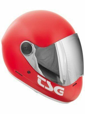 TSG - Casque à visière [750086] [Rouge - Satin Fire Red] [large] NEUF