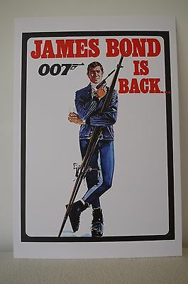 rare Advance Artwork ON HER MAJESTY`S SECRET SERVICE  James Bond George Lazenby