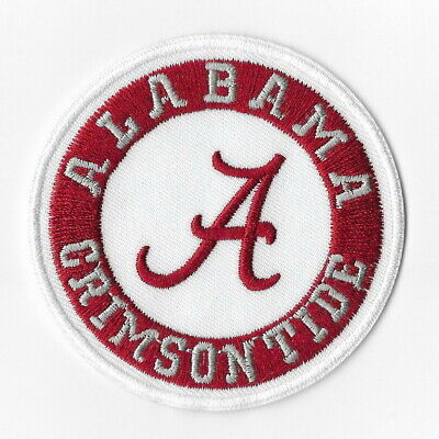 NCAA Alabama Crimson Tide Iron on Patches Embroidered Badge Emblem Applique Sew