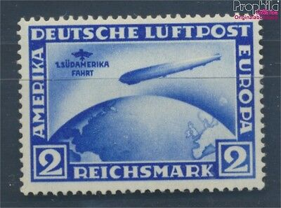 German Empire 438X with hinge 1930 Count Zeppelin Südamerikafahrt (7803453