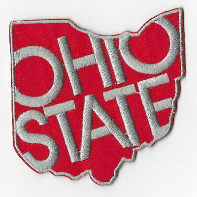 NCAA Ohio State Buckeyes Map Iron on Patches Embroidered Badge Patch Applique