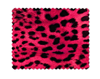 Leopard Print Pink Microfiber Lens Glasses Cleaning Cloth