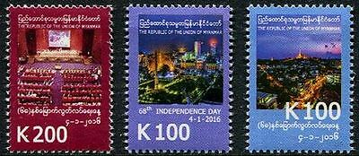 Myanmar 2016 MM45 68th Anniversary Independence MNH**