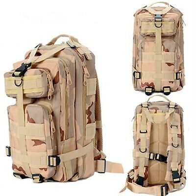 35L Hiking Camping Bag Army Military Tactical Trekking Rucksack Backpack Camo SS