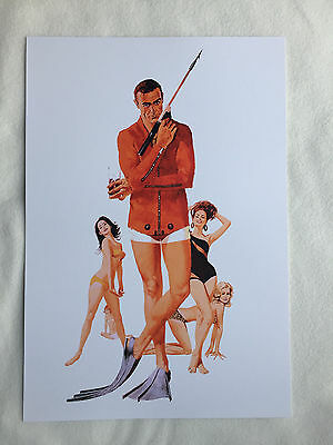 Sean Connery & Girls Stunning Artwork by Robert McGinnis THUNDERBALL James Bond