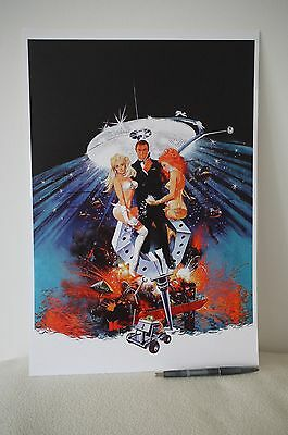 Artwork by Robert McGinnis DIAMONDS ARE FOREVER James Bond Sean Connery