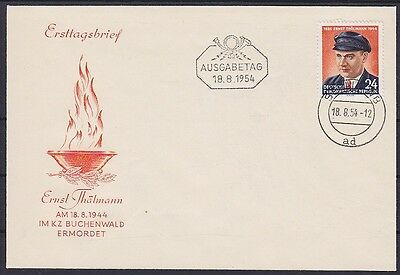 DDR FDC 432 mit Tagesstempel Berlin 18.08.1954 frist day cover