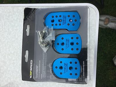 Ripspeed Competition Car Anti-Slip Backing Foot Cover Pedal Set - Blue