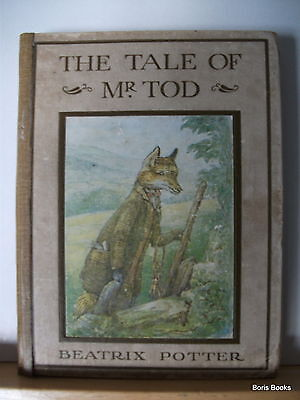 The Tale of Mr Tod by Beatrix Potter First Edition hardback book 1912