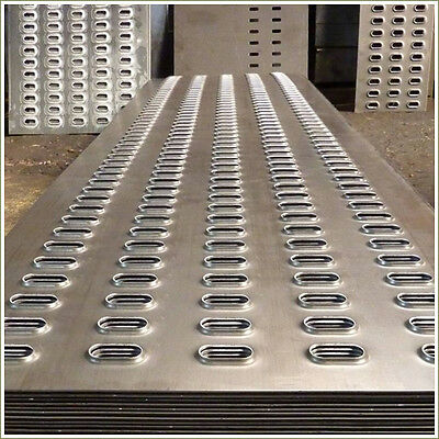 Aluminium Punched decking for trailer ramps/recovery vehicles. 2.5M long x 300mm