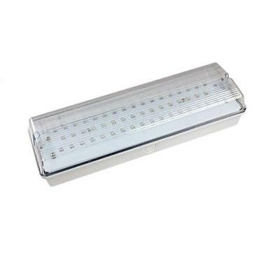 LED Emergency Bulkhead Non / Maintained 3 Hour Fire Exit Light IP65
