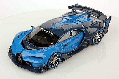 MR Collection Bugatti Vision GT Light Blue Sport with Showcase 1/18